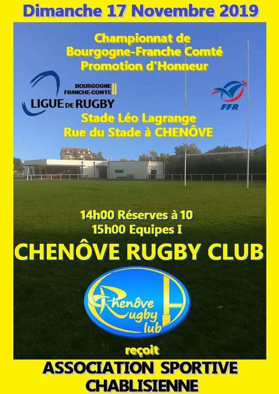 Match aller CRC B AS Rugby Chablis B